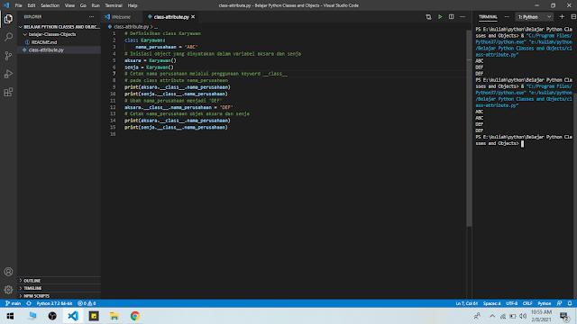 Python - Class dan Object
