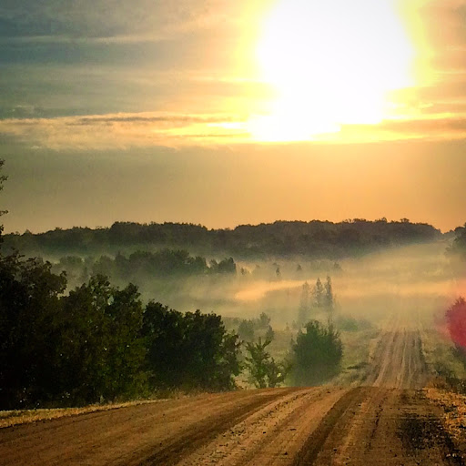 Sunrise over the Goat Ranch road