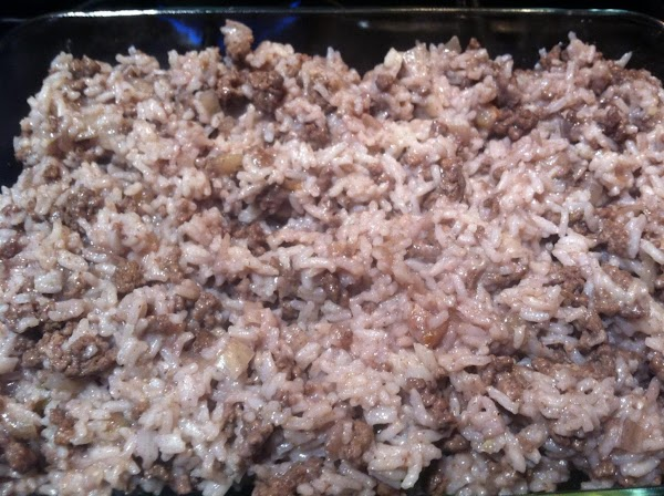 MIX IN COOKD RICE N PARMESEAN CHEESE. PREHEAT OVEN TO 375