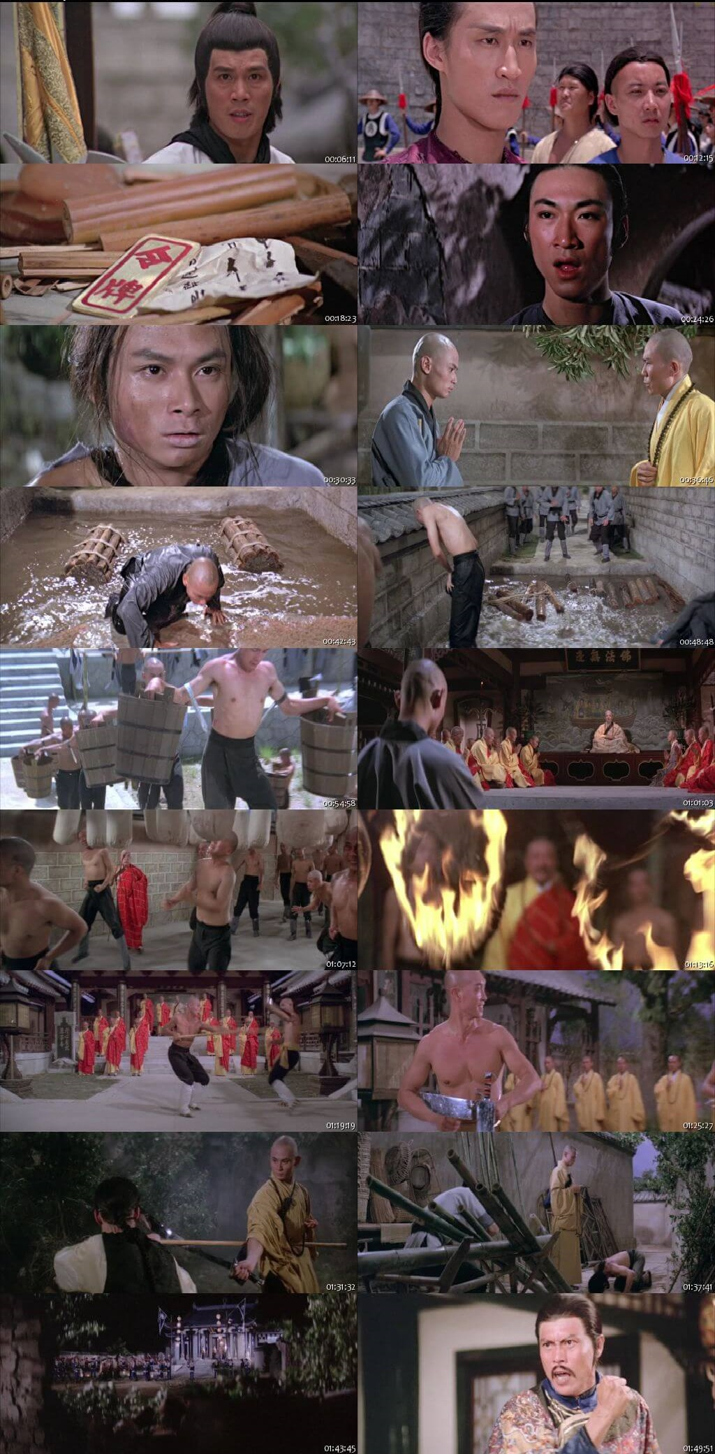 The 36th Chamber of Shaolin 1978 300MB Hindi Dubbed Dual Audio 480P