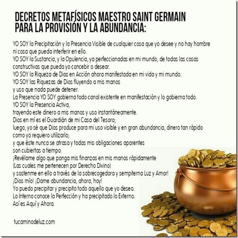 2020 decretos para la abundancia de Saint Germain