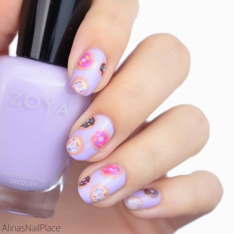 donut nailart cute kawaii style