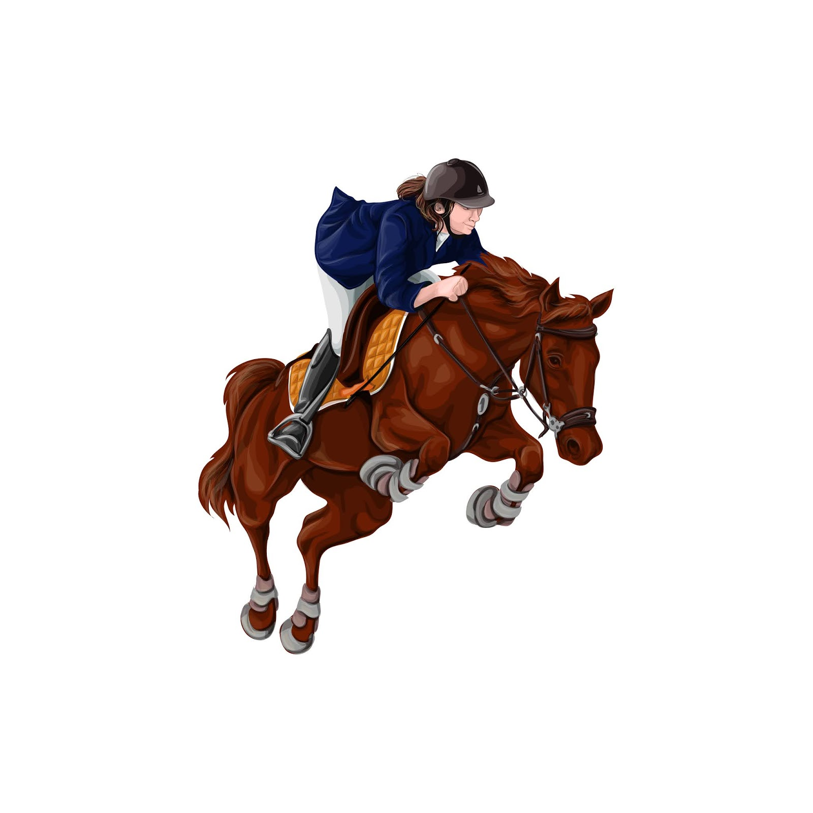 Woman Girl Riding Horses Vector Illustration Isolated	 Free Download Vector CDR, AI, EPS and PNG Formats