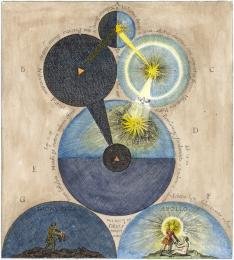 Engraving From Robert Fludd Medicina Catholica 1629, Alchemical And Hermetic Emblems 1