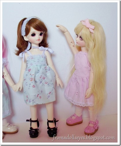 Comparing the dolls' heights | From a Doll's Eyes