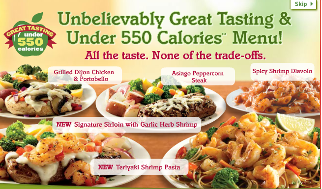 Forgive & Forget the Fat: Applebee's Under 550 Calories Menu