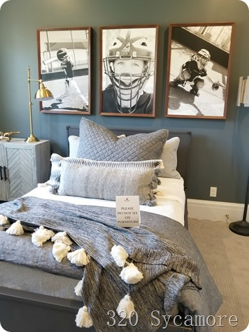 baseball blue boys room