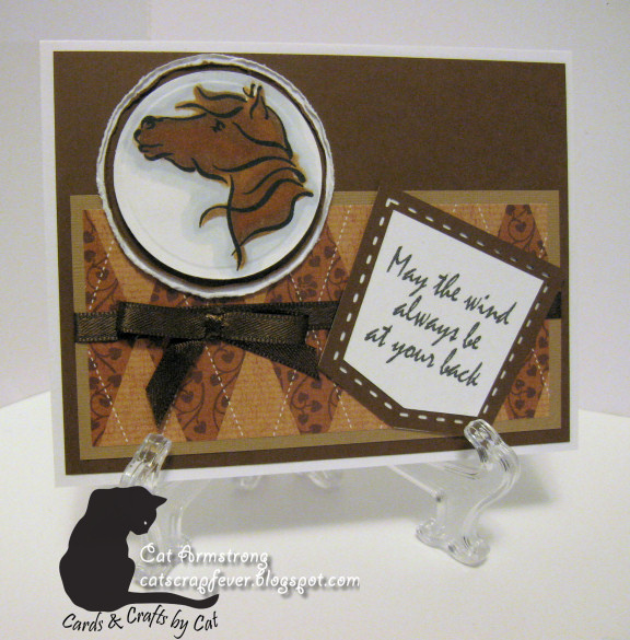 Cat scrap fever i brake for digis brush horse for Michaels crafts wausau wi