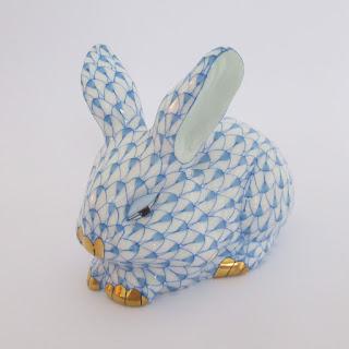 Herend Bunny Rabbit Figurine