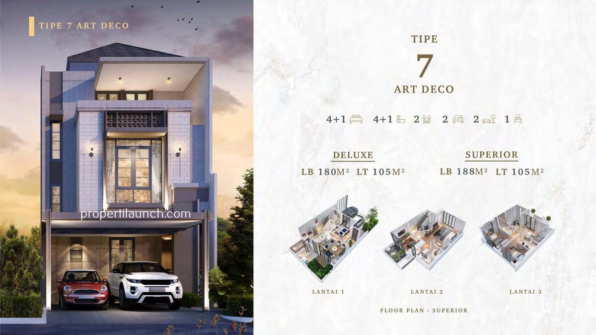Rumah Bukit Podomoro Jakarta Tipe 7 Art Deco
