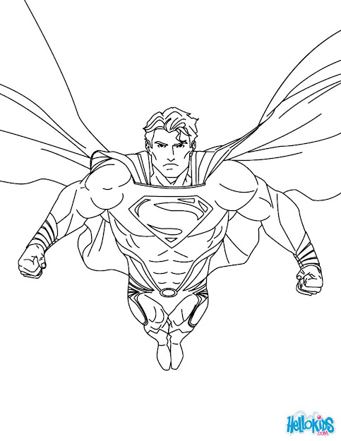 Superman Printing And Drawing Coloring Page