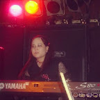 Performing at #TouristInn in York / #Hallam, PA. #throwbackthursday #tbt #keyboardist #synthesist #yamahaS80 #hellokitty #spikedcollar #sanrio #pigtails #fishnet #gorillaz