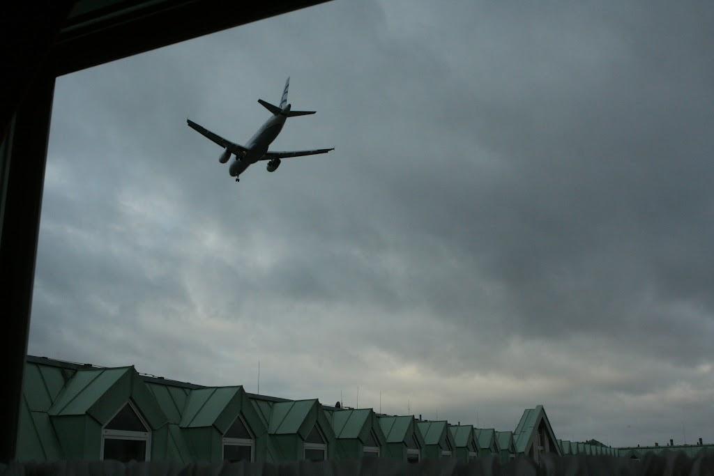 Blick aus dem Dorint Hotel am Flughafen Tegel.