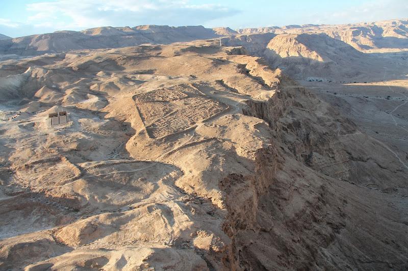 Widok z Masady. Dawny obóz Rzymian