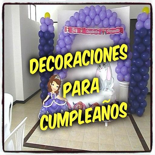 Decoraciones para cumpleaños