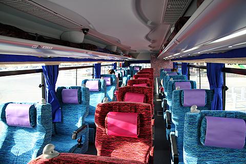 北海道バス「函館特急ニュースター号」 ・986 車内