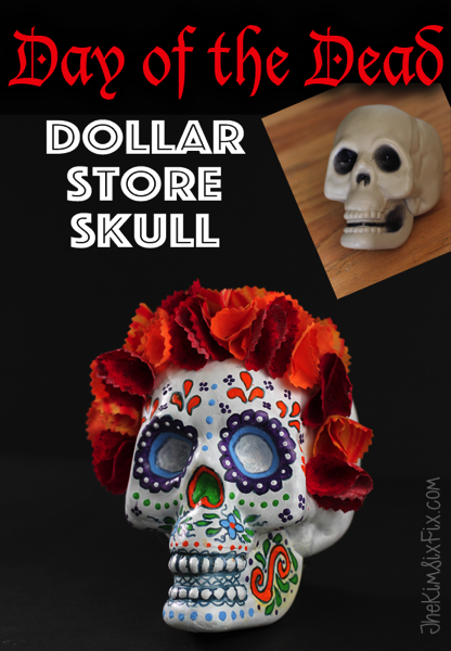 Dollar store skull to day of the dead sugar skull