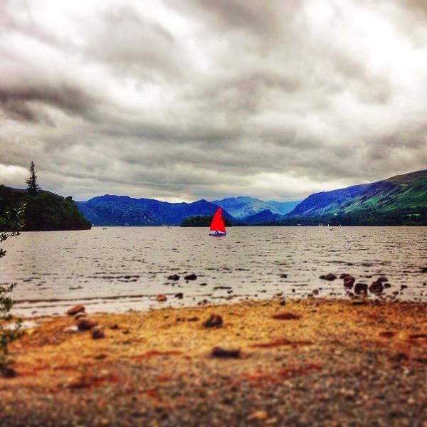 Red boat Derwentwater