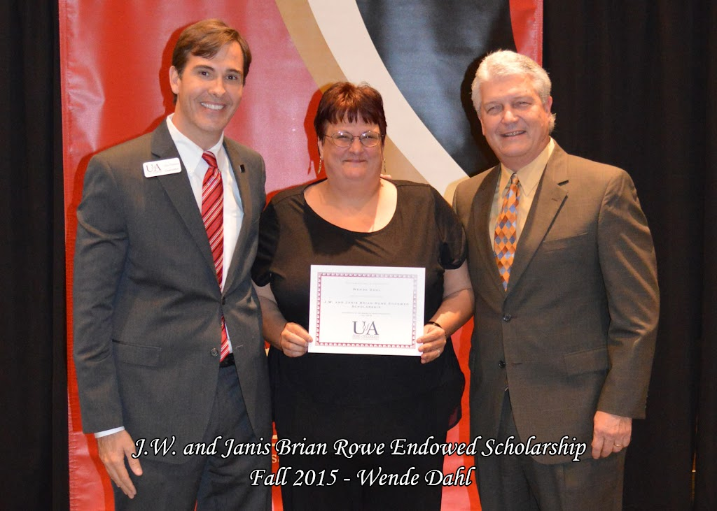 Scholarship Ceremony Fall 2015 - JW%2BRowe%2B-%2BWende%2BDahl.jpg