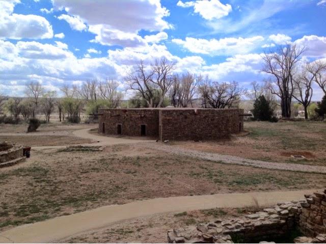 Exterior view of Aztec Kiva