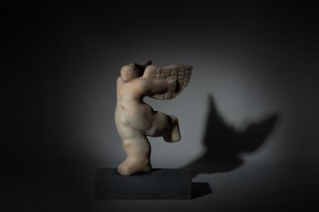 Angel: PORTUGUESE MARBLE, 2013; W 28cm, H 39 cm, D 22 cm; SOLD