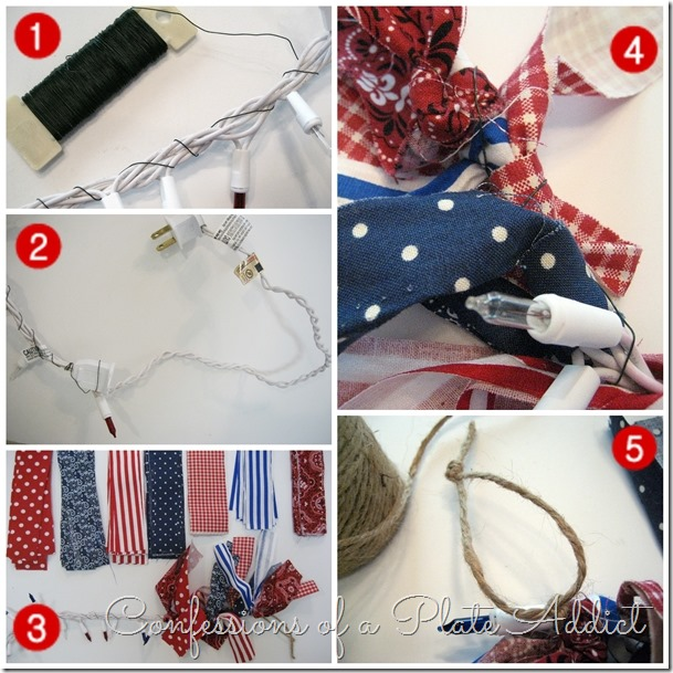 CONFESSIONS OF A PLATE ADDICT Indoor-Outdoor Lighted Patriotic Garland tutorial
