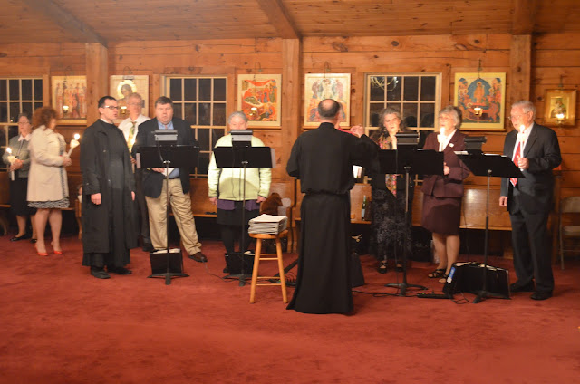 The Choir singing during Matins