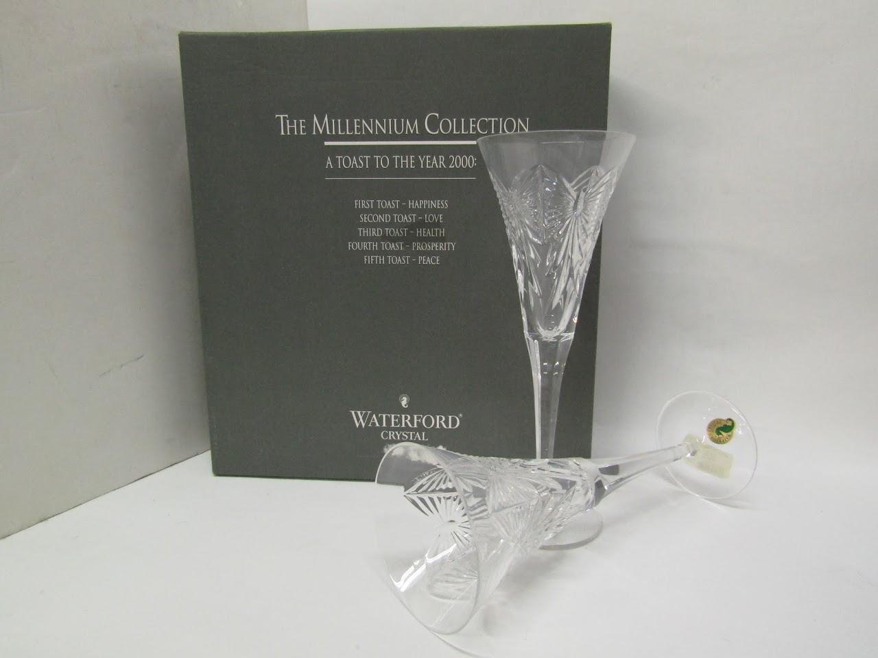 Waterford Crystal Millennium Toasting Flute Pair