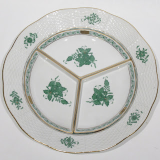Herend Chinese Bouquet Apponyi Green Serving Plate