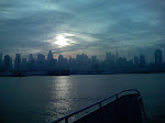 A pic of an NYC sunrise while riding the ferry to work