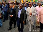 Le Président Joseph Kabila lors de son arrivée à Matadi chef lieu de la province du Congo centrale le 29/06/2015 à la veille de la célébration du 55èm anniversaire de l'indépendance de la RDC. Radio Okapi/Ph. John Bompengo