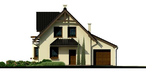 Dom przy Kalinowej 3 - Elewacja przednia