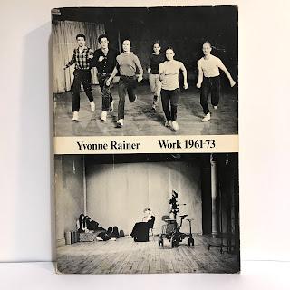 Yvonne Rainer Work 1961-1973 RARE Book