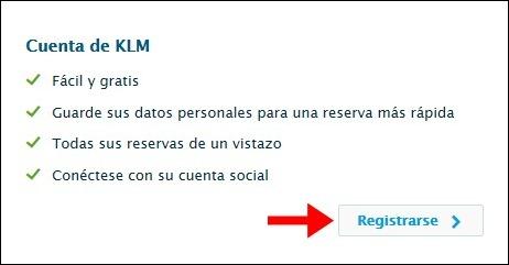 Abrir mi cuenta KLM - 529