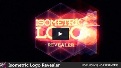 Efecto de prisma isométrico para logos y cabeceras de programas