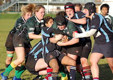 Alanagh Chipperfield (red banding on scrumcap) in action for Belfast Harlequins.