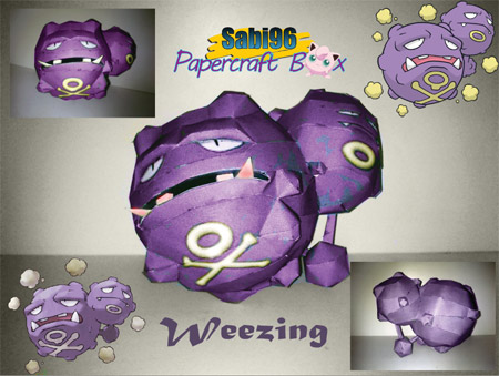 Pokemon Weezing Papercraft