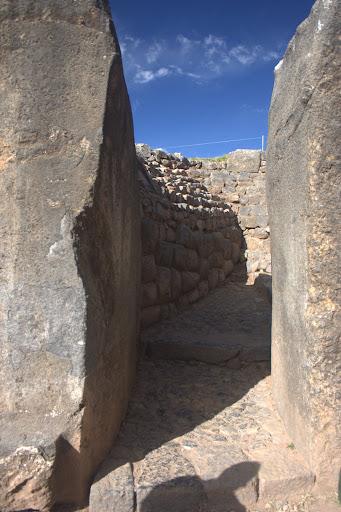 Los muros interiores del complejo templos