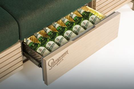 BBDO Zagreb's Beautifully Designed Staropramen Beer Sofa
