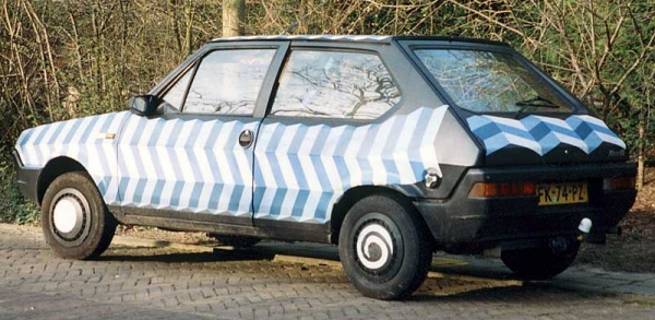 Fiat Ritmo Art Car By Patricia Van Lubeck