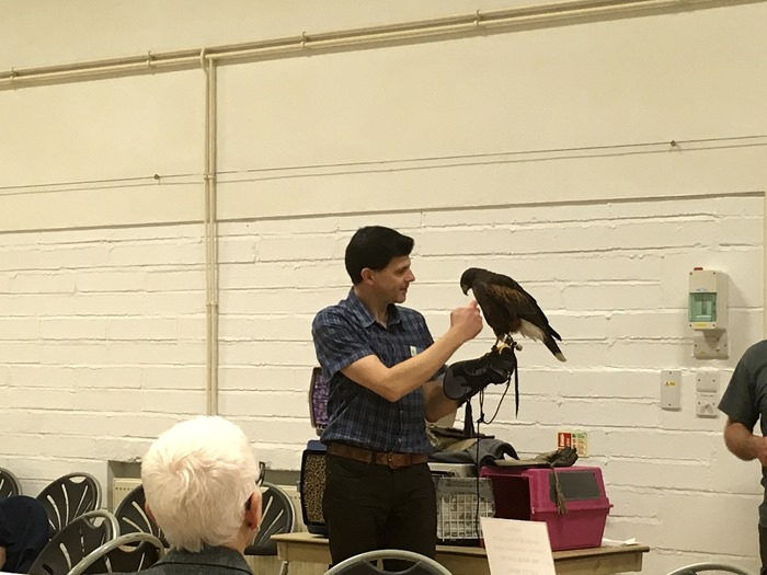 08 Mark with the Harris Hawk