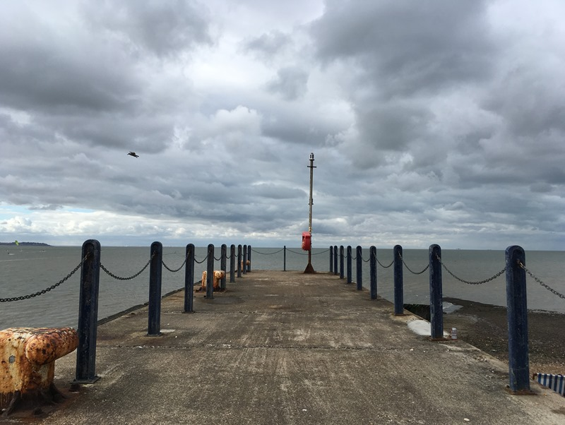 The end of the pier in Whitstable Harbour