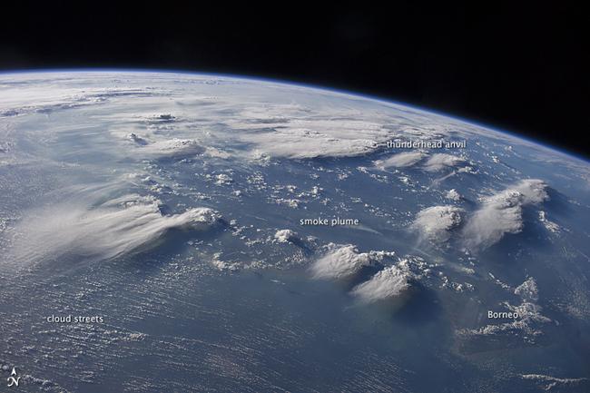 Nubes desde la Estación Espacial Internacional