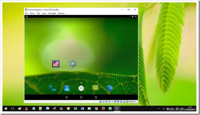 Sistem Operasi Android yang Dijalankan pada Komputer Windows 10