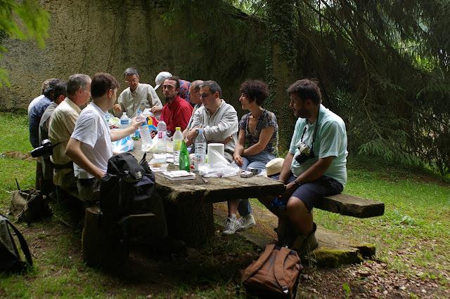 Repas au Val des Choues, Forêt de Châtillon (Côte d'or), juin 2006. Photo : J.-M. Gayman