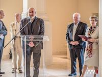 Pollák Róbert, a kassai Kelet-szlovákiai Múzeum igazgatója  a tárlat megnyitóján Budapesten.jpg