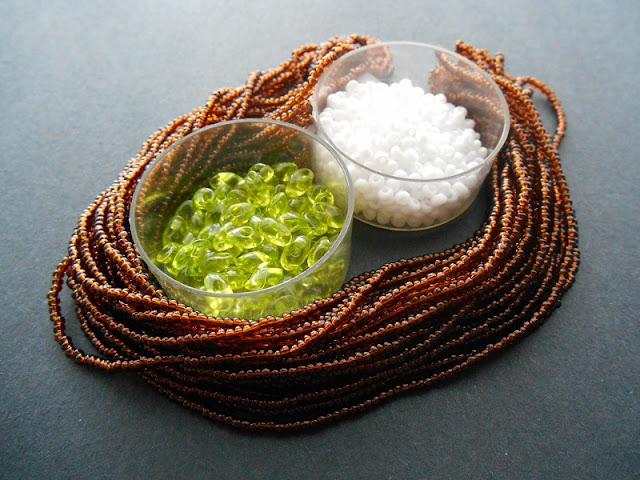 Tropical Coconut Lime Bead Color Idea