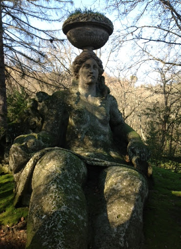 From the monster park aka the Sacred Grove of Bomarzo setting of my novel Signatures in Stone which won the Daphne Du Maurier prize. This is a statue of Persephone. My novel uses this myth in the plot.