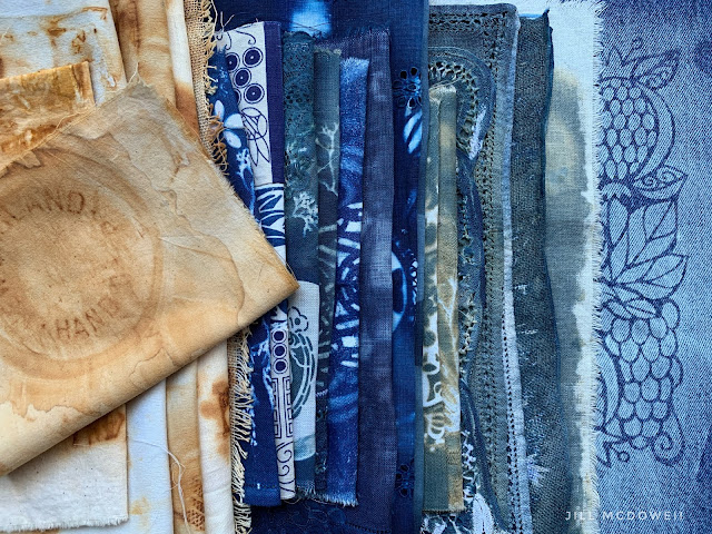 Rust, Cyanotype and Bleached Fabrics are on Today's Menu