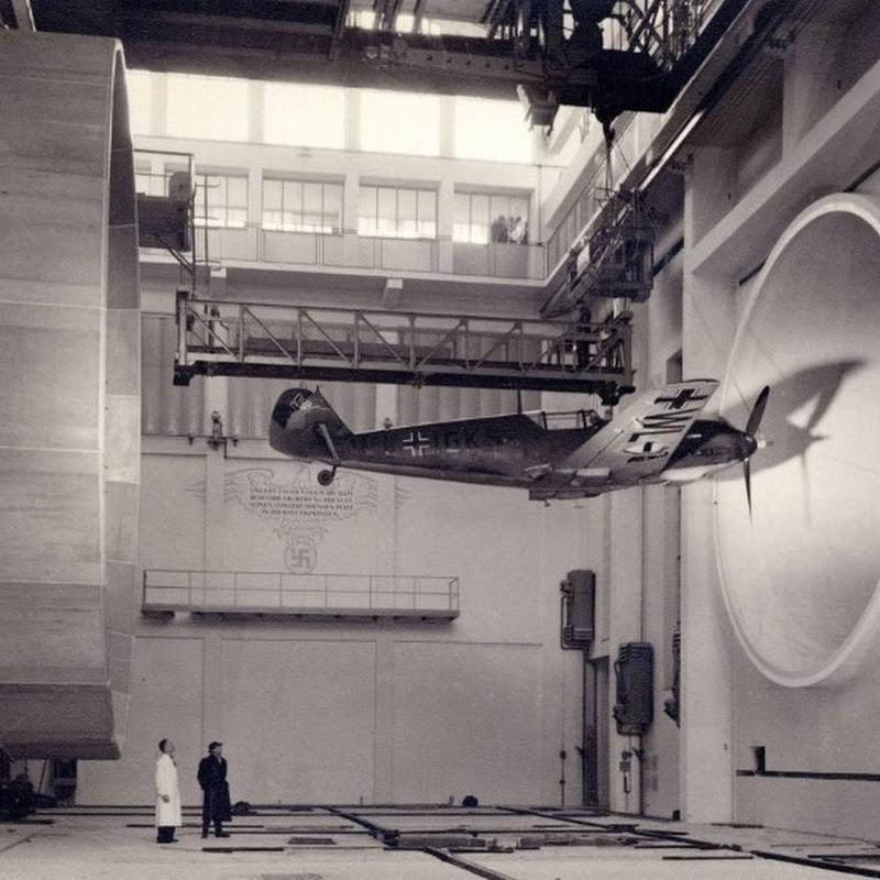 Messerschmitt Bf 109 no túnel de vento (foto impressionante)